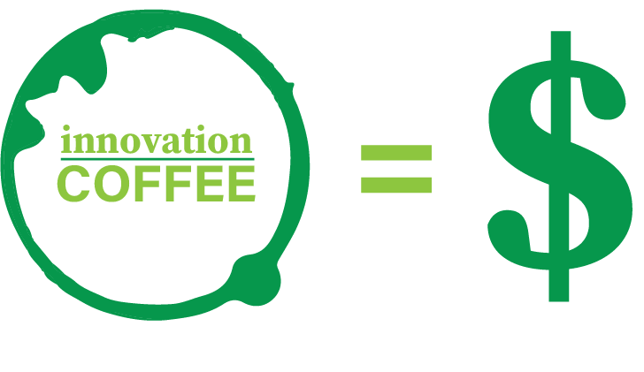 Innovation in coffee equals money (dollar sign)
